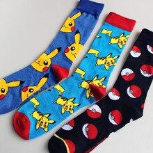 Гольфы «Pokemon GO» для женщин и мужчин, носки для костюмированной вечеринки с изображением Пикачу из мультфильма «Pokemon GO», «Super Mario Donkey Kong Mario Bros», повседневные носки