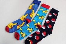 Pokemon GO Knee-High Socks Women Men Cartoon Pikachu Poke Ball Cosplay Socks Super Mario Donkey Kong Mario Bros Casual Socks