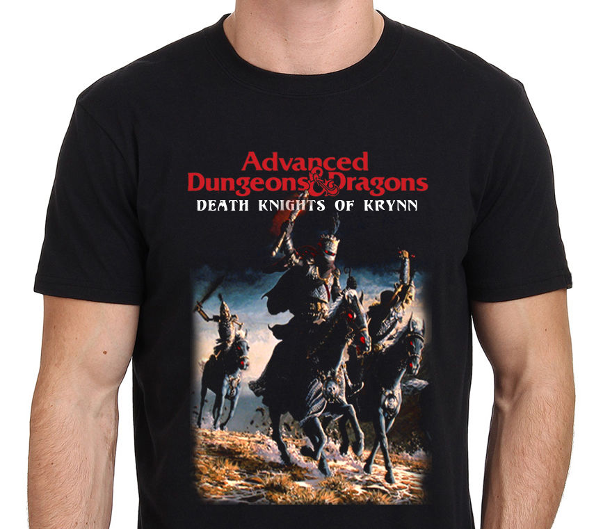 Dungeons and Dragons Vintage Game Death Knight Of Krynn Mens T-Shirt Sleeve Harajuku Top ...