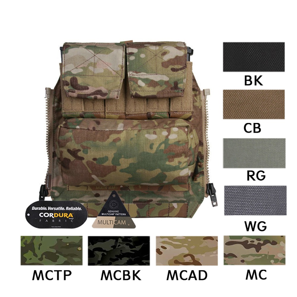 Emerson Tactical Pack Zip-on Panel EmersonGear Plate Carrier Zip on Back Bag w/ Magazine Pouches for CPC NCPC JPC 2.0 AVS Vest botanical embroidery zip back skirt