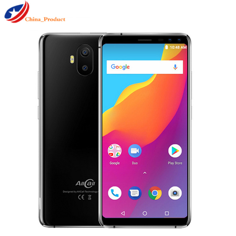 "Original AllCall S1 5.5"" 18:9 5000mAh Battery Android 8.1 MTK6580A Quad Core 2GB 16GB 8MP+2MP Cameras Dual SIM Cards Smartphone"