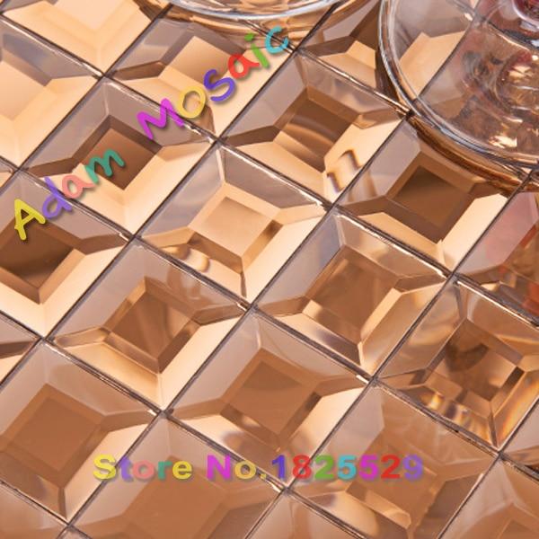 copper beveled glass mosaic tiles kitchen backsplash gold diamond shape tiles subway mirror bathroom tile clear decor