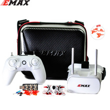 лучшая цена Emax Tinyhawk 75mm F4 Magnum Mini 5.8G Indoor FPV Racing Drone With Camera RC Drone 2~3S RTF Version with 2 pair props for gift