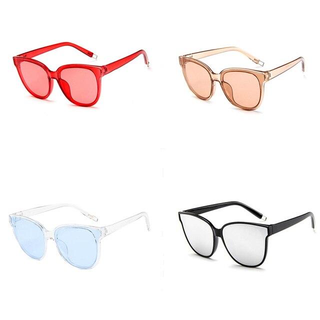 Óculos Escuros de grife de Moda feminina colorido legal oculos de sol homens  transparentes de grandes 353d6a83e9