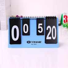 1Pcs Multi sport Table Tennis Scoreboard 4 Digit Flip Score Scoreboard For Basketball Universal Board For Sports Games