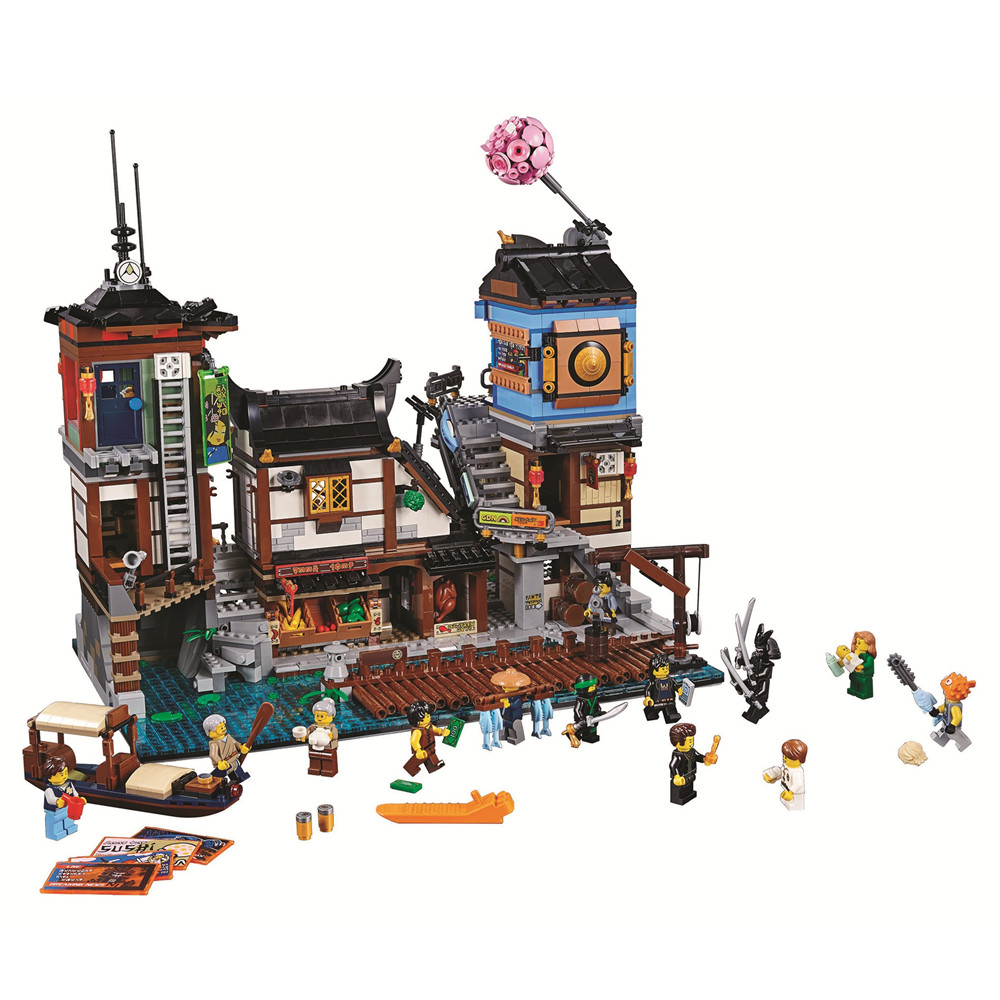 BELA Ninjagoed City Docks Building Blocks Kit Bricks Sets Ninja Movie Classic Model Kids Toys Marvel Compatible Legoe ожерелье bride makeup frontlet