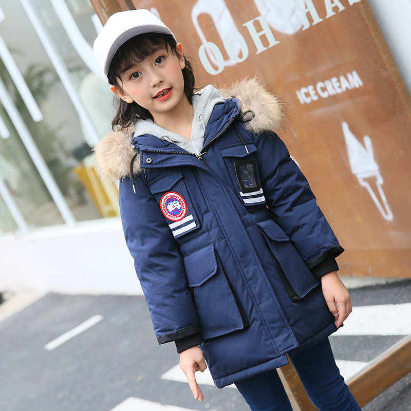 Boy and girl 2017 new Korean white eiderdown thick coat winter for size 6 7 8 9 10 11 12 13 14 years child casual down jackets