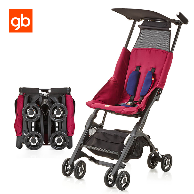 GB Upgrade Pockit 2S Baby Stroller Backrest Adjustable Lightweight Pram Pushchair Quick Fold Umbrella Stroller For