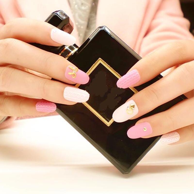 New Arrival Exquisite 24pcs 3d Fake Nails Designer Nail Tips Long