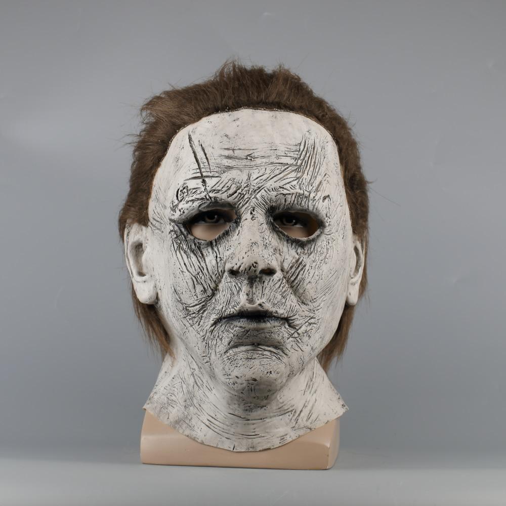 2018 Halloween Mask New Michael Myers Mask Scary Horror Halloween Handmade Mask (4)