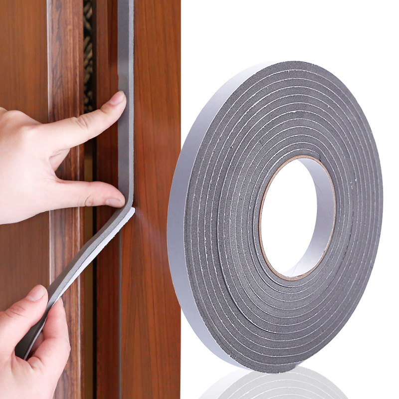 5M Adhesive Foam Weather Draught Excluder Seal Door Window gap insulation rubber tape Hardware width 15MM / 30MM soft self adhesive door and window gap seal kitchen sink waterproof and mildew tape beautiful seam corner line window accessorie