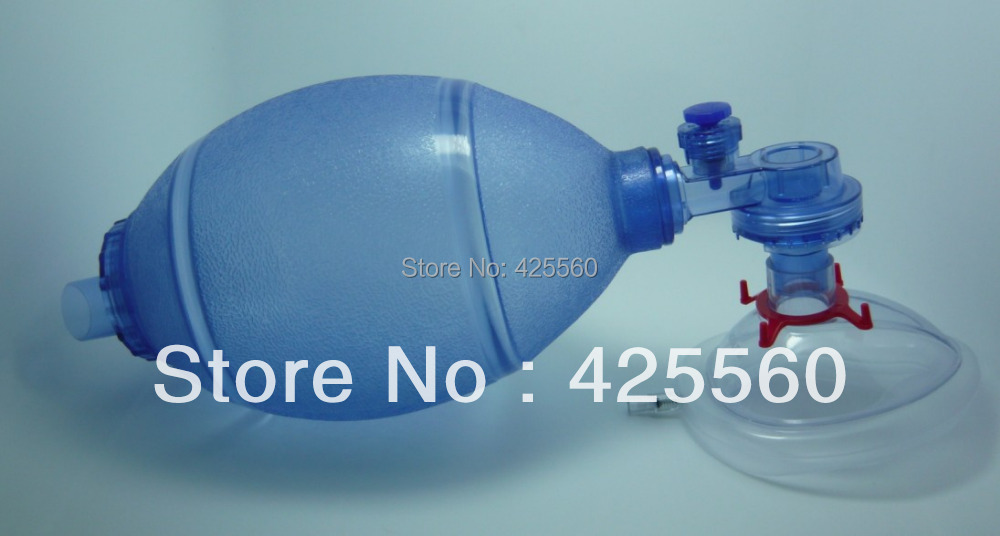 1 Piece PVC Medical Plastic Latex-Free Disposable Bag One-way Valve Mask CPR Manual Resuscitator Rescue For First Aid Training