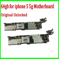 for iphone 5 5g Logic Board Replacement,Original Unlocked 64gb for iphone 5 5g Motherboard with IOS system,Free Shipping