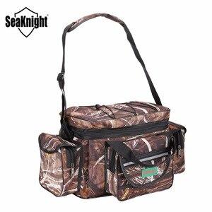 Image 5 - SeaKnight SK003 Fishing Bag Reel lure Bag Multifunction Fishing Backpack 50cm*27cm Reel Case Camouflage Khaki Fishing Tackle Bag