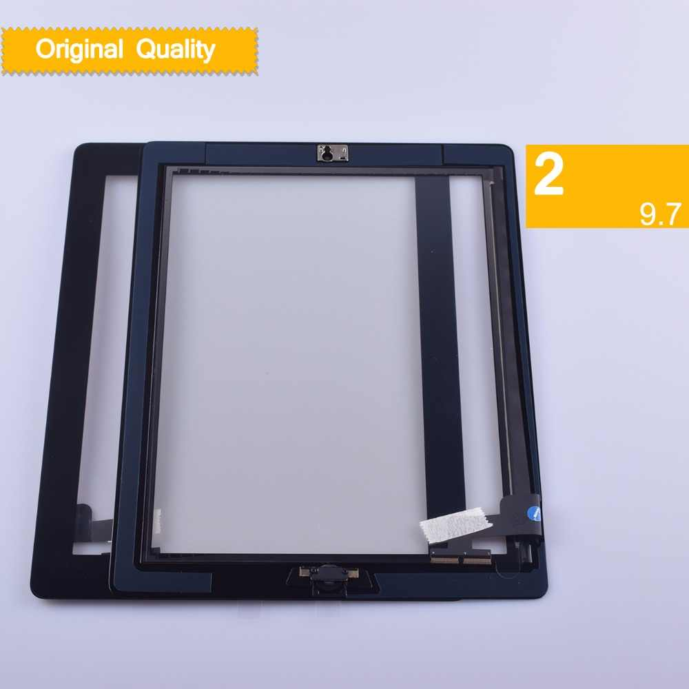 original Touch Screen for iPad 2 A1395 A1396 A1397 Digitizer Sensor Glass  Replacement with Adhesive for iPad 2 Touch Screen Tool