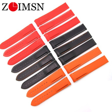 ZLIMSN Rubber Silicone Watch Bands For Omega Watch Seamaster Ocean 232 007 Brand Watchband Sports 20mm 22mm No Buckle