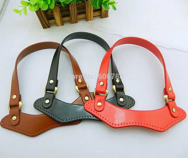 Free Shipping Diy Bag Handle Repair Strap Parts And Accessories Synthetic Leather Handbag Handles
