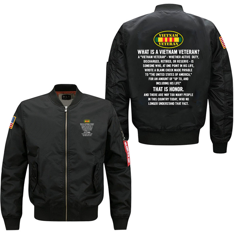 25 Duong That Is Honor Men's Bomber Flight Jacket