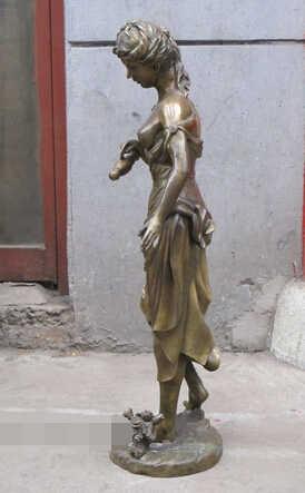 """Scy S1150 31 """"Western Art Bronzen Standbeeld Topless Naakt Vrouw Sex Water Fles Belle"""