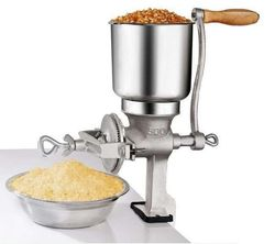 Jamielin Manual Coffee Grain Mill Grinder Kit Large Funnel for Grain Corn Wheat Home New Tinned Iron Mill