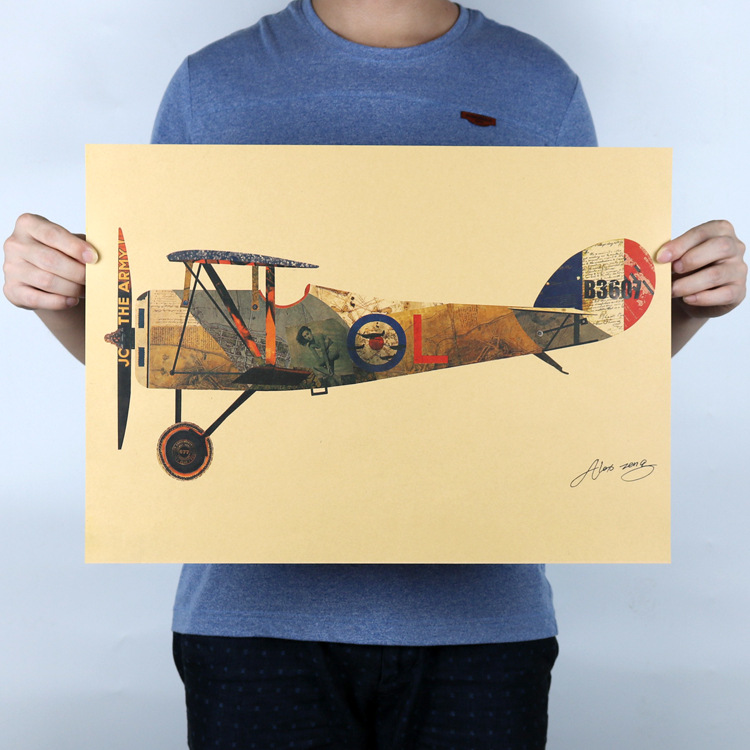 World war ii airplane sticker decal classic aircraft paper for Airplane cockpit wall mural