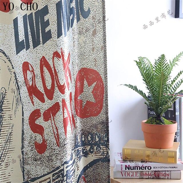 Online Shop YO CHO velvet cotton cortina 3d blackout curtains Retro ...
