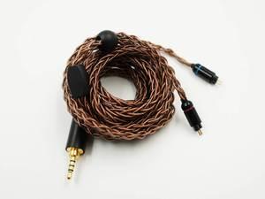 Image 3 - OCC 8 жильный 19 жильный Плетеный MMCX/2pin 0,78 мм Hi Fi аудиофил IEM наушники вкладыши кабель для обновления наушников