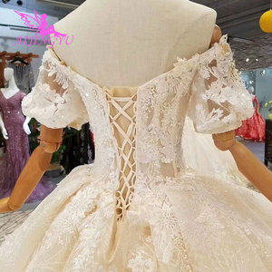 Image 5 - AIJINGYU magasin de mariage robes de mode Royal dentelle couleur conception robe dété Sexy robe de mariée courte