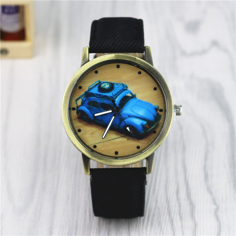 цена на women's watches 2018 wrist watch women Fashion Clock Casual Leather Strap Analog Quartz Round Watch Free shipping
