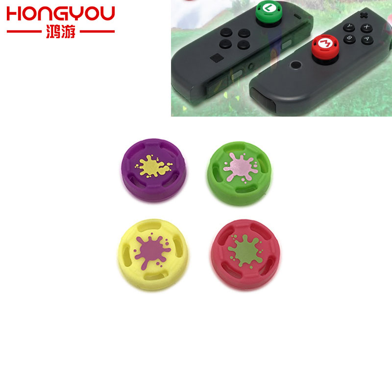 50PCS Soft Silicone Thumb Stick Grip Cap Case Cover For Left Right Nintendo Nintend Switch Joy-Con NS NX Controller