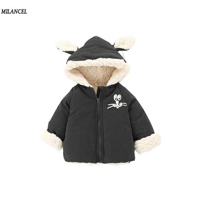 b6df10e5f Milancel 2017 Winter Baby Parkas Girls Thicken Jacket Warm Baby Boys ...
