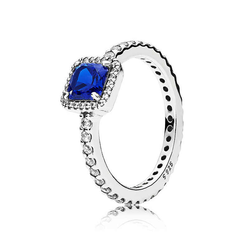 fa4ed0f41 925 Sterling Silver Ring Red & Green & Blue & Clear Timeless Elegance Rings  For Women