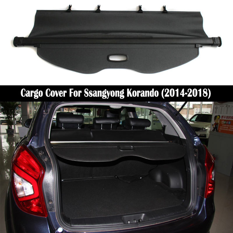 Rear Cargo Cover For Ssangyong Korando 2014 2015 2016 2017 2018 privacy Trunk Screen Security Shield shade Auto Accessories image
