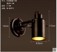Çatı Bağbozumu Endüstriyel Retro Duvar lambaları Temizle Duvar Aplik Depo Duvar Işık Fikstür E27 AC90-260V Başucu Aydınlatma