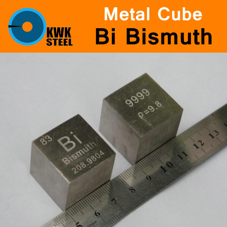 цена на Bi Bismuth Cube Block Pure 99.99% 10mm or 1inch Cut Periodic Table of Metal Elements for Research Study Education Collection