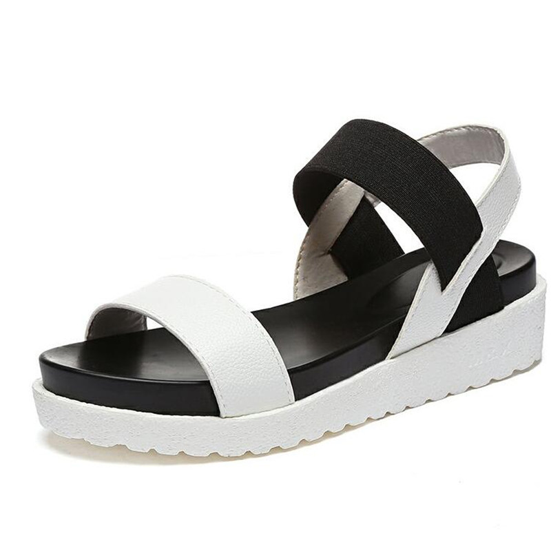 NEW Hot Selling sandals women Summer shoes woman 2016 peep-toe flat Shoes Roman sandals Women sandals sandalias mujer sandalias women shoes summer women sandals 2017 peep toe gold silver roman sandals shoes platform brand creepers woman sandalias size 43