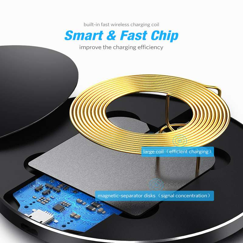 Image 5 - 10W Fast Wireless Charger For Samsung Galaxy S9 S9 Plus S8 S7 Note 9 S7 Edge USB Qi Charging Pad for iPhone XS Max XR X 8 Plus-in Mobile Phone Chargers from Cellphones & Telecommunications