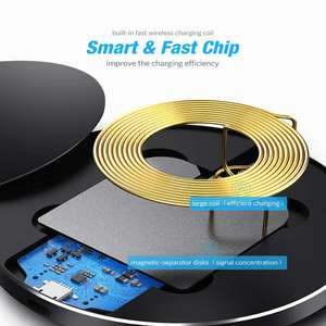 Image 5 - 10W Fast Wireless Charger For Samsung Galaxy S9 S9 Plus S8 S7 Note 9 S7 Edge USB Qi Charging Pad for iPhone XS Max XR X 8 Plus