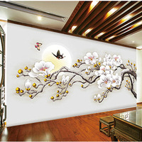 Custom 3D Print DIY Fabric Textile Wallcoverings For Walls Cloth Washable Matt Silk For Living Room