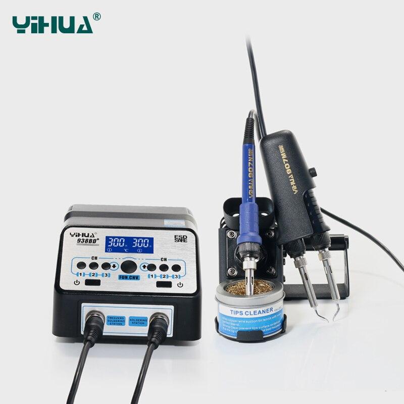 YIHUA 938BD + SMD Stacja lutownicza do naprawy pincety Stacja - Sprzęt spawalniczy - Zdjęcie 2