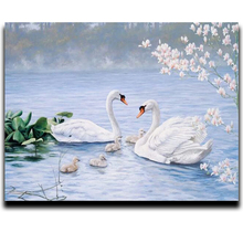 Swan Diy paint Diamond cross stitch 3d square drill resin diamond mosaic glued full Canvas embroidery