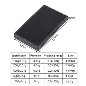 Image 2 - Urijk 1Pcs 디지털 방식으로 가늠자 100/200/300/500/1000g 0.01/0.1g 부엌 보석 약을위한 정확한 LCD 전시 포켓 가늠자 그램 무게