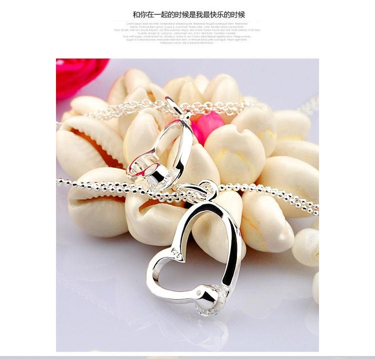 heart pendants  necklace,925 sterling silver women fashion necklace - Fine Jewelry - Photo 6