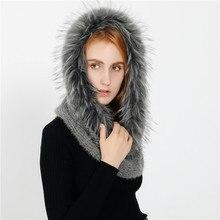 New Fashion Winter Warm Women/Lady Solid Fur Magic Scarf Circular Pashmina Soft Thicken Bib Neckerchief Wrap Cashmere Female