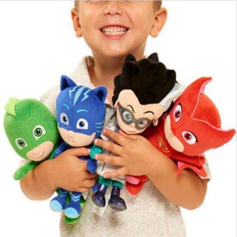 Original Pj Cartoon Masked Catboy Owlette Gekko Cloak Stuffed Plush Dolls Toys Action & Toy Figures Plush Toys For Children 25cm