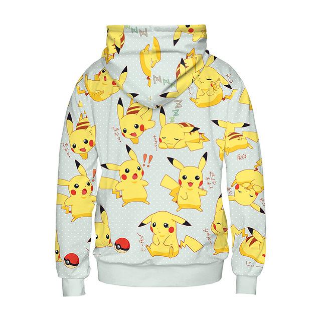 Pokemon Pikachu Sudadera con Capucha