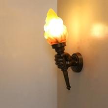 Creative torch hand wall light E27 light restaurant cafe living room aisle stair bar bedroom outdoor