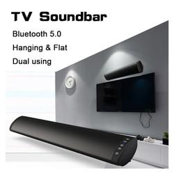 20W Bluetooth 5.0 TV Soundbar Wireless Speaker Stereo Home Theater Hifi Column Surround USB Sound System Wall Mounted Sound Bar