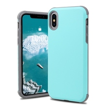 Shockproof Hybrid PC Hard Case For iPhone XS Max XS XR X  7 8 Plus X Soft Silicone Cover For iPhone 6 6S Plus protective cover pc 268 shockproof dustproof protective silicone case w stand for iphone 6 4 7 army green