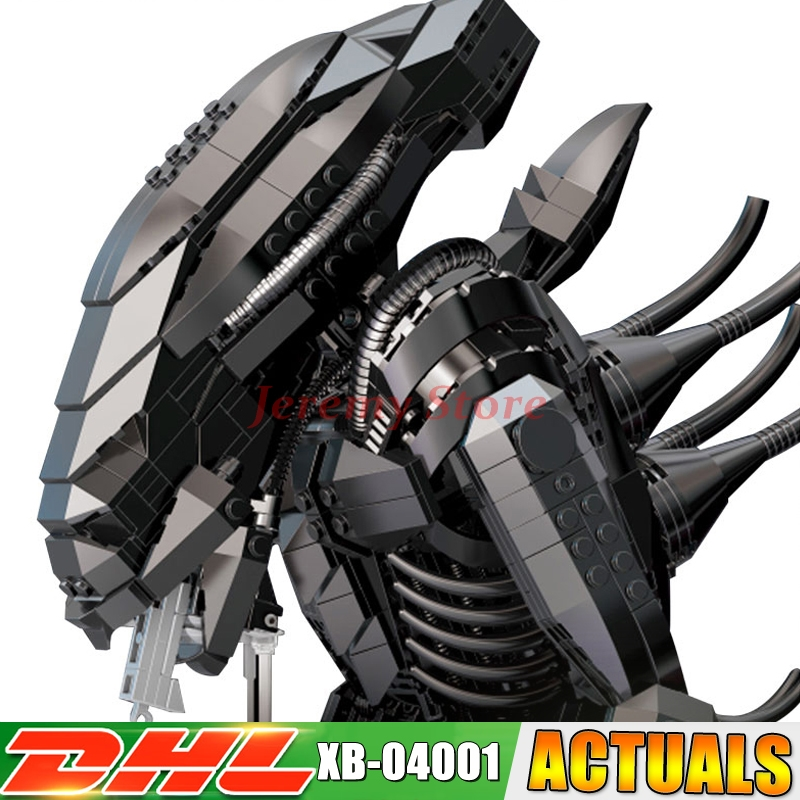 XingBao 04001 2020Pcs Genuine Creative Movie Series The Alien Robot Set children Educational Building Blocks Bricks Toys Model loz diamond blocks dans blocks iblock fun building bricks movie alien figure action toys for children assembly model 9461 9462